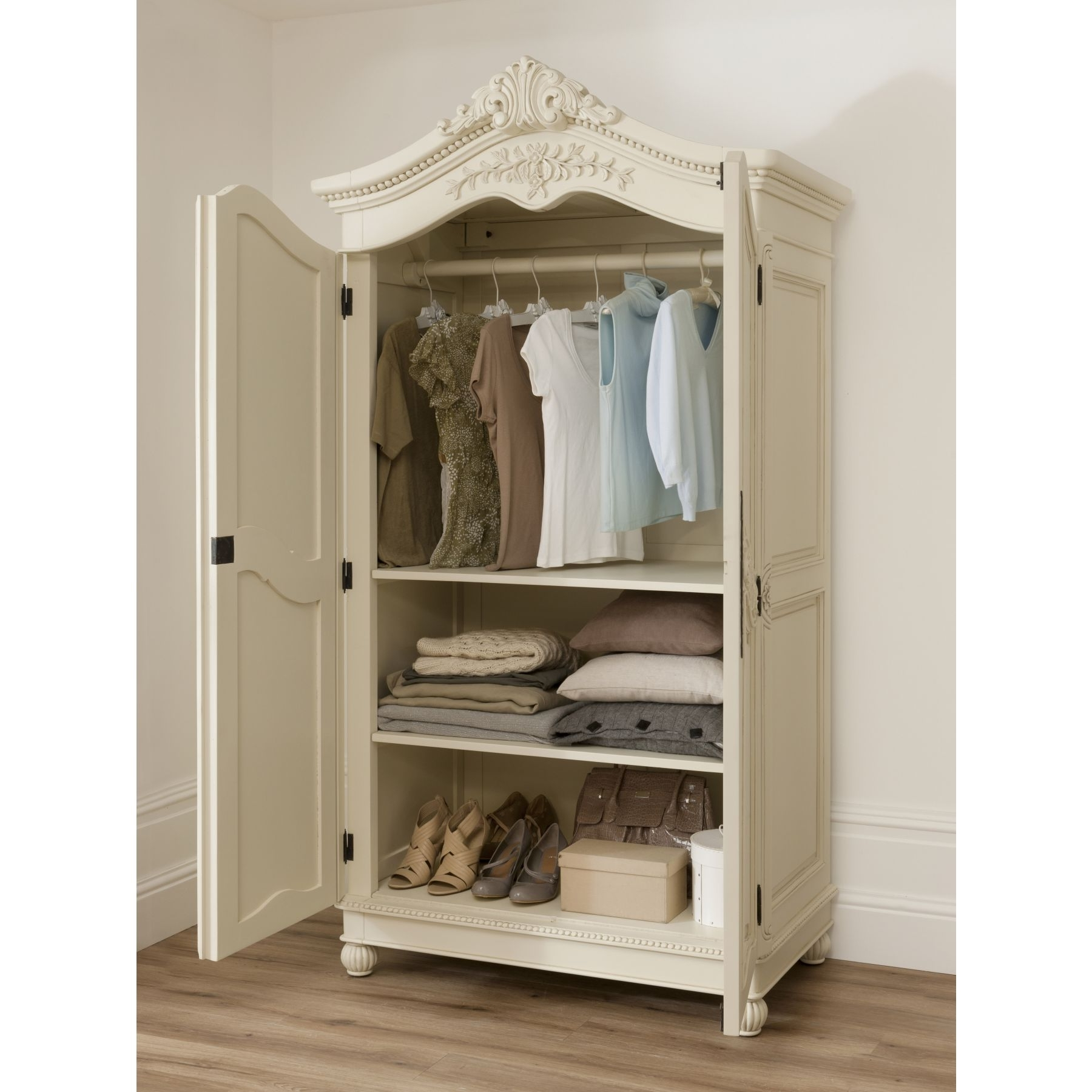 Well Known Bordeaux Wardrobes Throughout Bordeaux Ivory Shabby Chic Wardrobe (View 14 of 15)