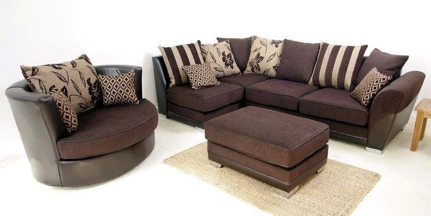 Well Known Brand New Modern Vermont Corner & Swivel Cuddle Chair Sofa Set In Sofas With Swivel Chair (View 9 of 10)