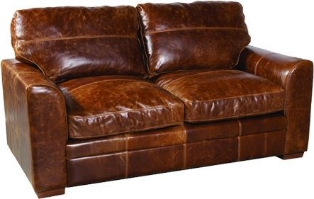 Well Known Cerato Leather Sofa – Two Seater Milan Pertaining To Aniline Leather Sofas (View 8 of 15)