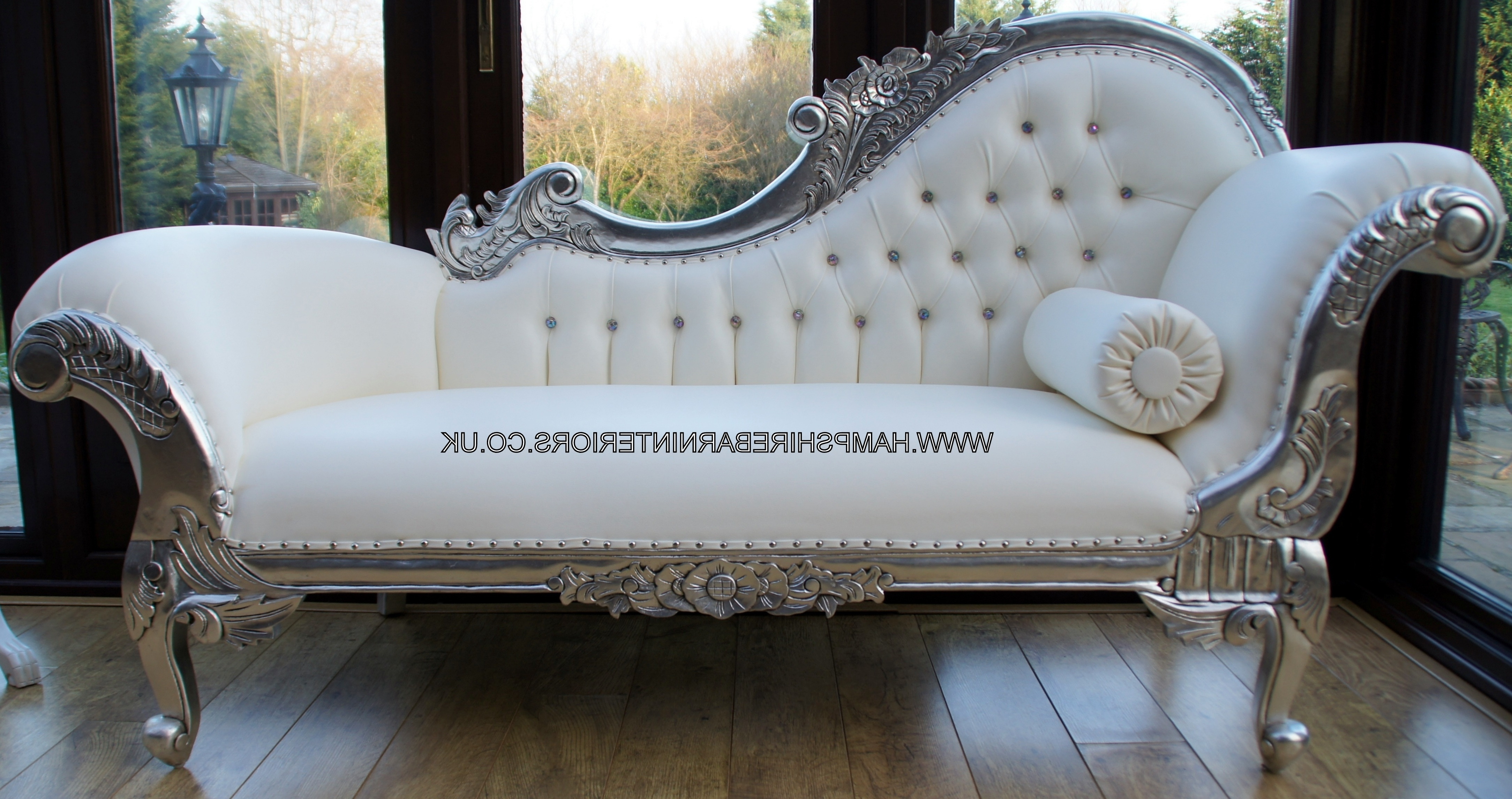 Featured Photo of White Leather Chaise Lounges