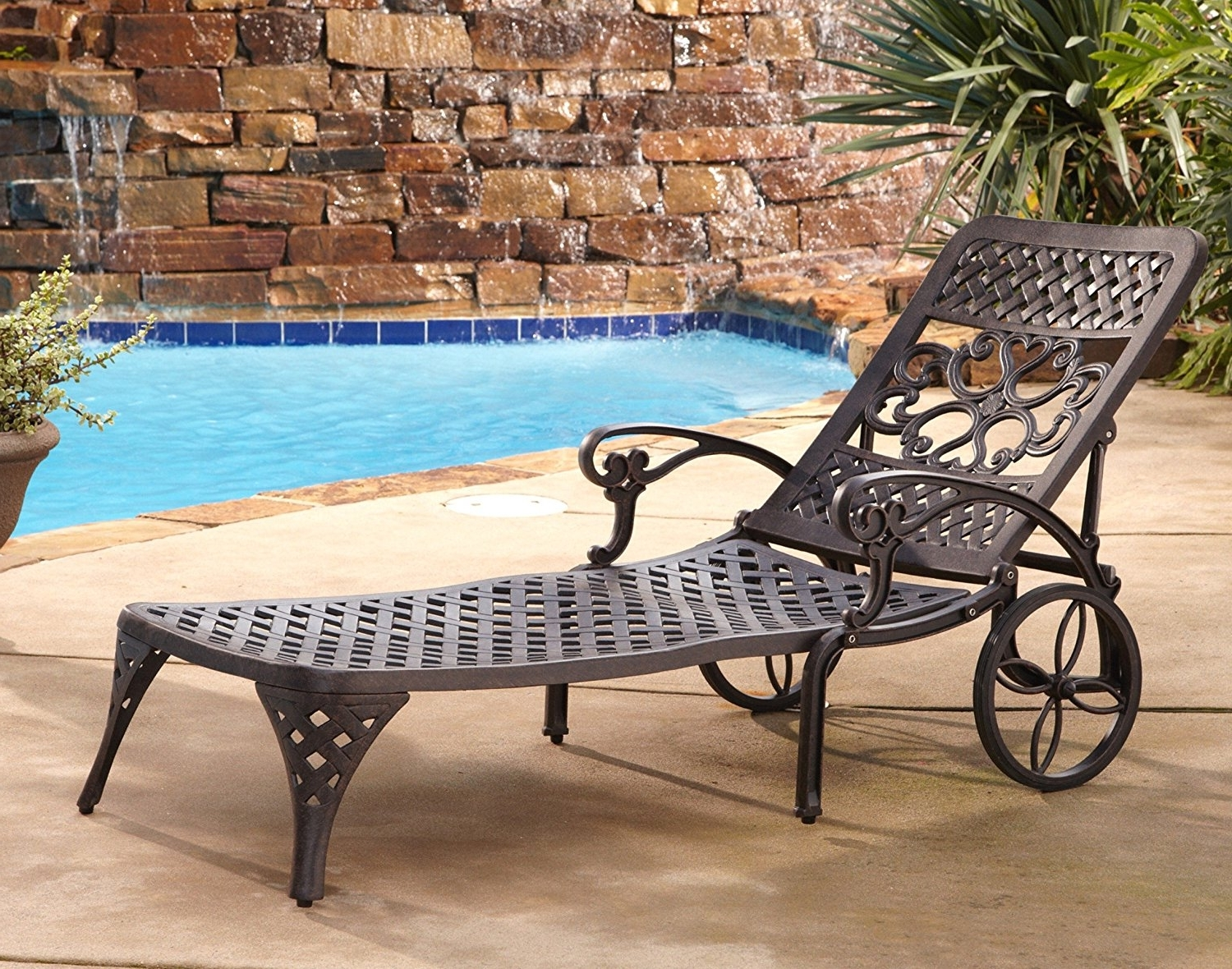Well Known Chaise Lounge Chairs At Sears For Amazon : Home Styles Biscayne Chaise Lounge Chair, Bronze (View 14 of 15)