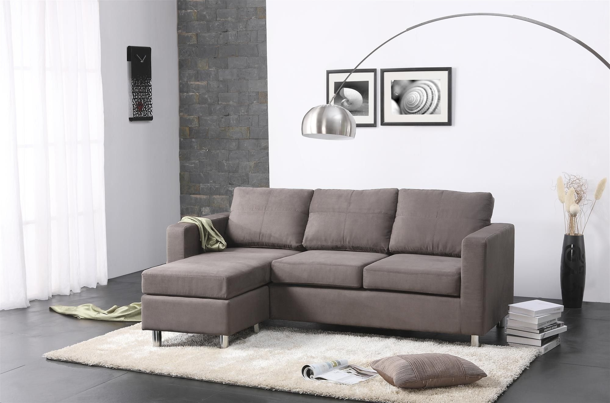 Well Known Chaise Lounge Chairs For Small Spaces For Amazing Modern Small Spaces Living Room Decors With Grey Sectional (View 13 of 15)