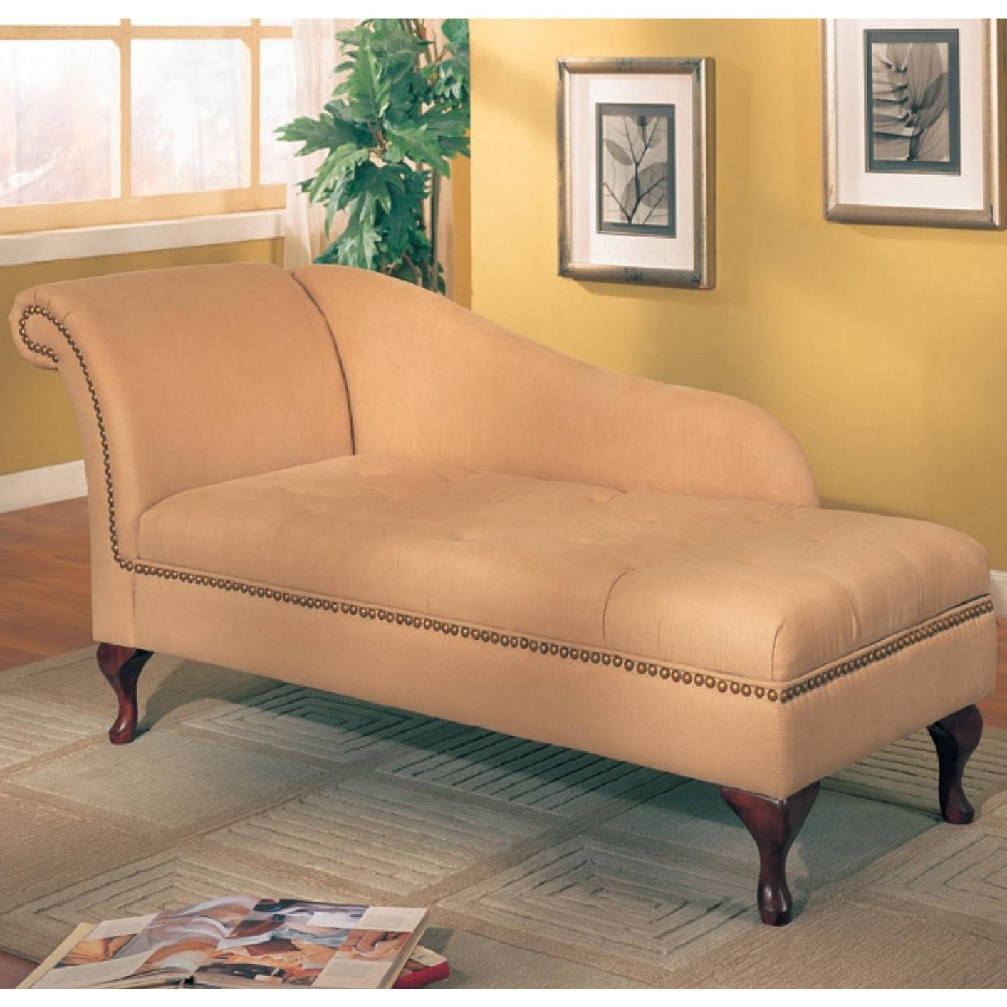 Well Known Coaster Chaise Lounges For Coaster Furniture 550058 Microfiber Chaise Lounge With Flip Open (View 5 of 15)