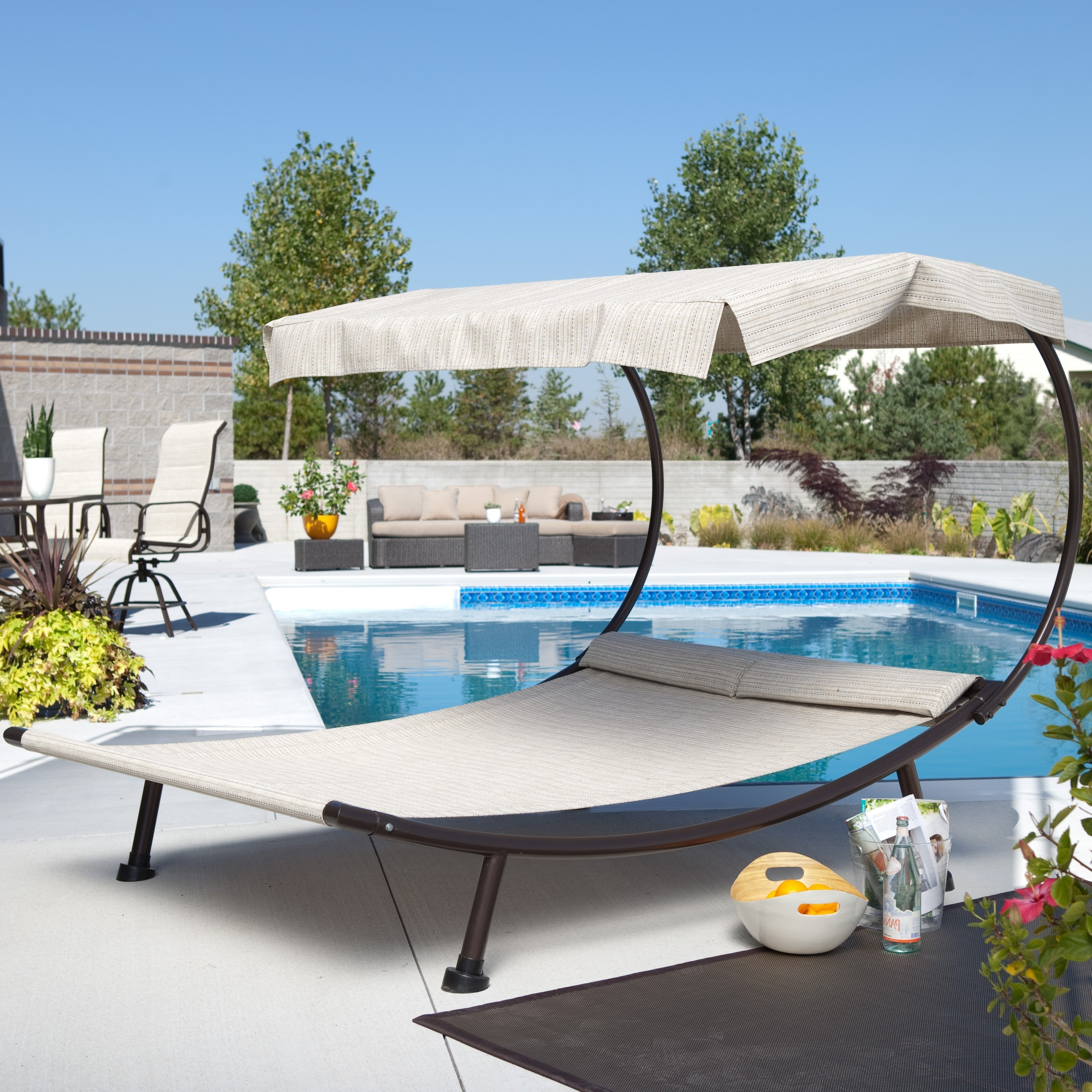 Well Known Coral Coast Del Rey Double Chaise Lounge With Canopy (View 13 of 15)