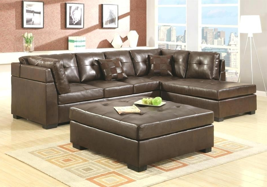 Well Known Couch With Ottoman Marvelous Leather Sectional Sofa With Chaise Regarding Leather Sectional Sofas With Ottoman (View 3 of 10)