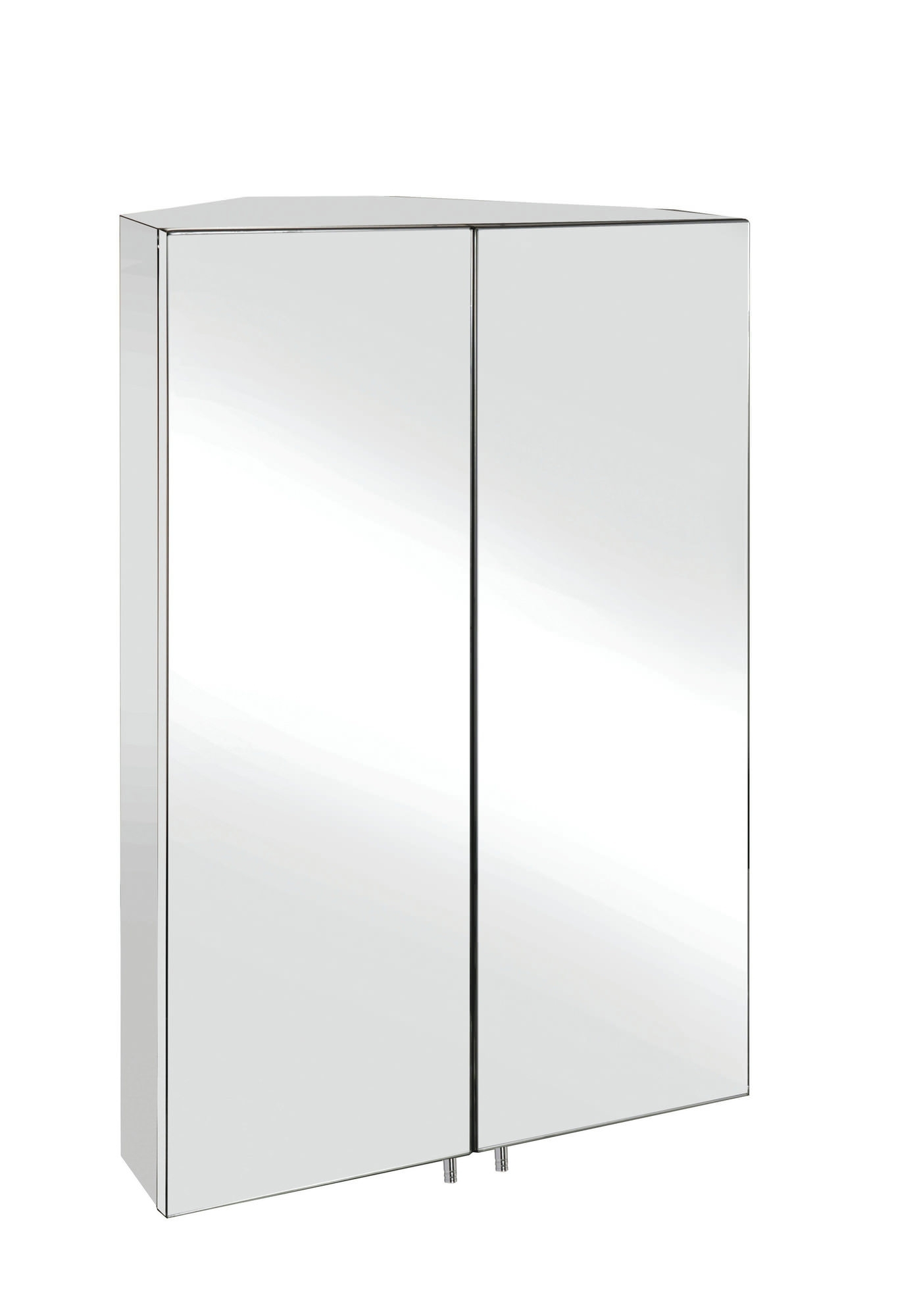 Well Known Croydex Avisio Stainless Steel Double Door Corner Mirror Cabinet Inside Corner Mirror Wardrobes (View 15 of 15)