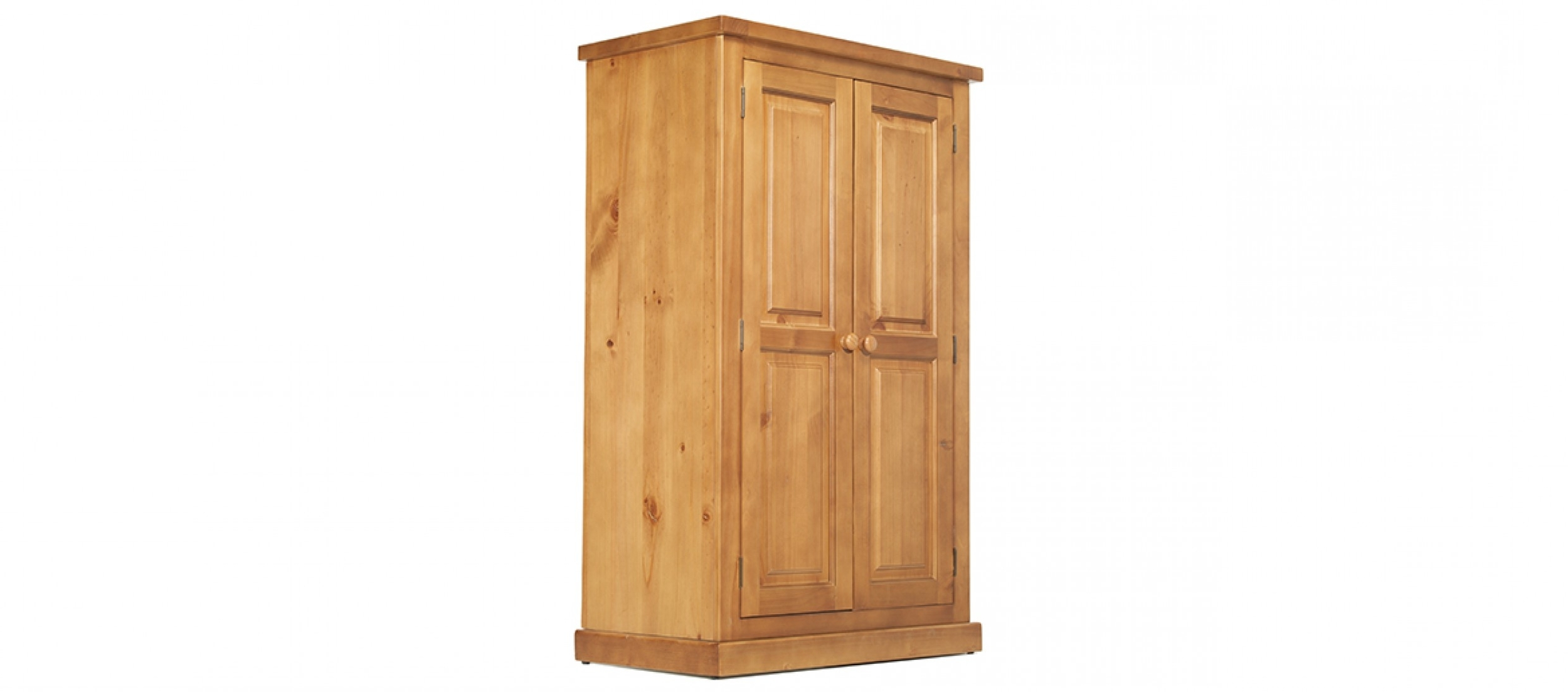 Well Known Devon Pine Kids Double Wardrobe (View 15 of 15)
