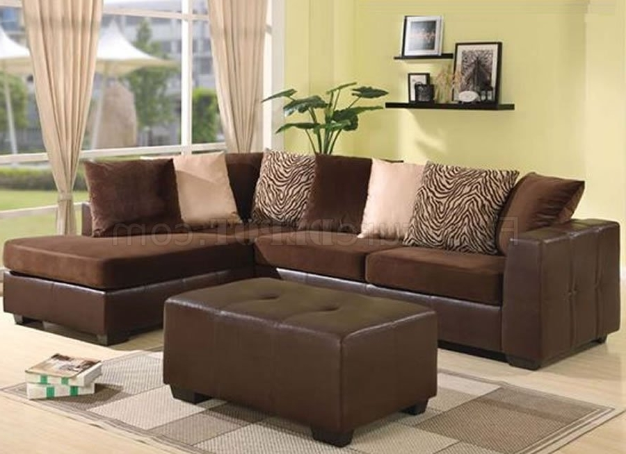 Well Known Elegant Sectional Sofas Within Chocolate Brown Ultra Plush Elegant Contemporary Sectional Sofa (View 10 of 10)