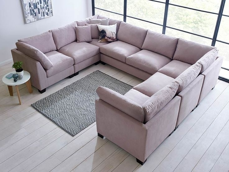 Well Known Excellent The Advantages U Shaped Sectional Sofa Decoras With Regard To Blue U Shaped Sectionals (View 10 of 10)