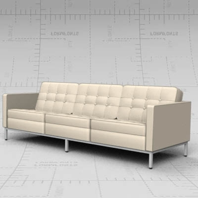Well Known Florence Sofa 3D Model – Formfonts 3D Models & Textures In Florence Sofas And Loveseats (View 10 of 10)