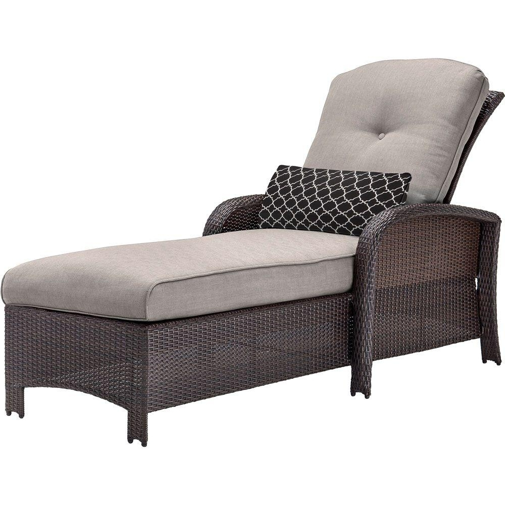 Well Known Gray – Wicker Patio Furniture – Hanover – Patio Furniture Intended For Armless Outdoor Chaise Lounge Chairs (View 14 of 15)