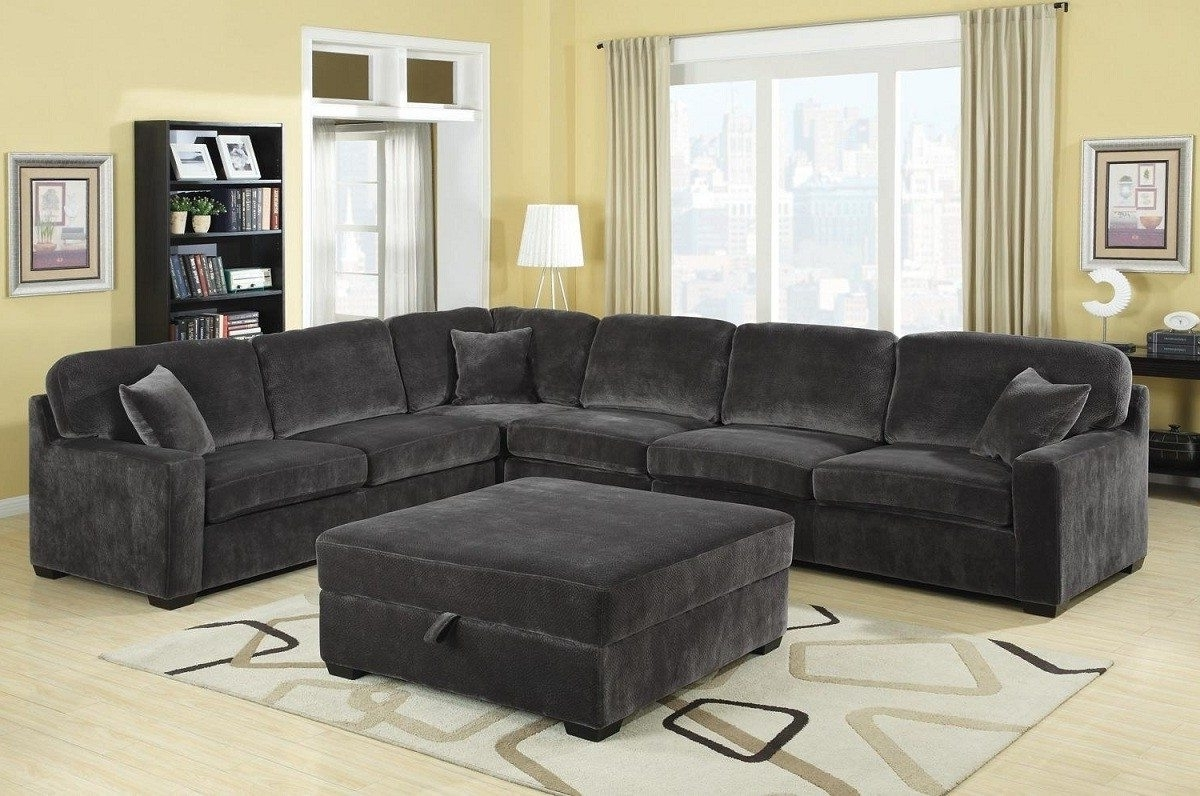 Well Known Grey Sectionals With Chaise Within Using Gray Leather Sectional Sofas In Your Homes – Elites Home Decor (View 15 of 15)
