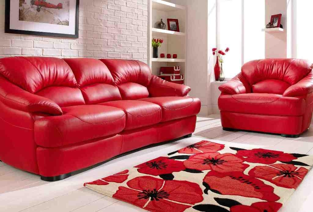 10 Best Ideas of Red Leather Couches And Loveseats