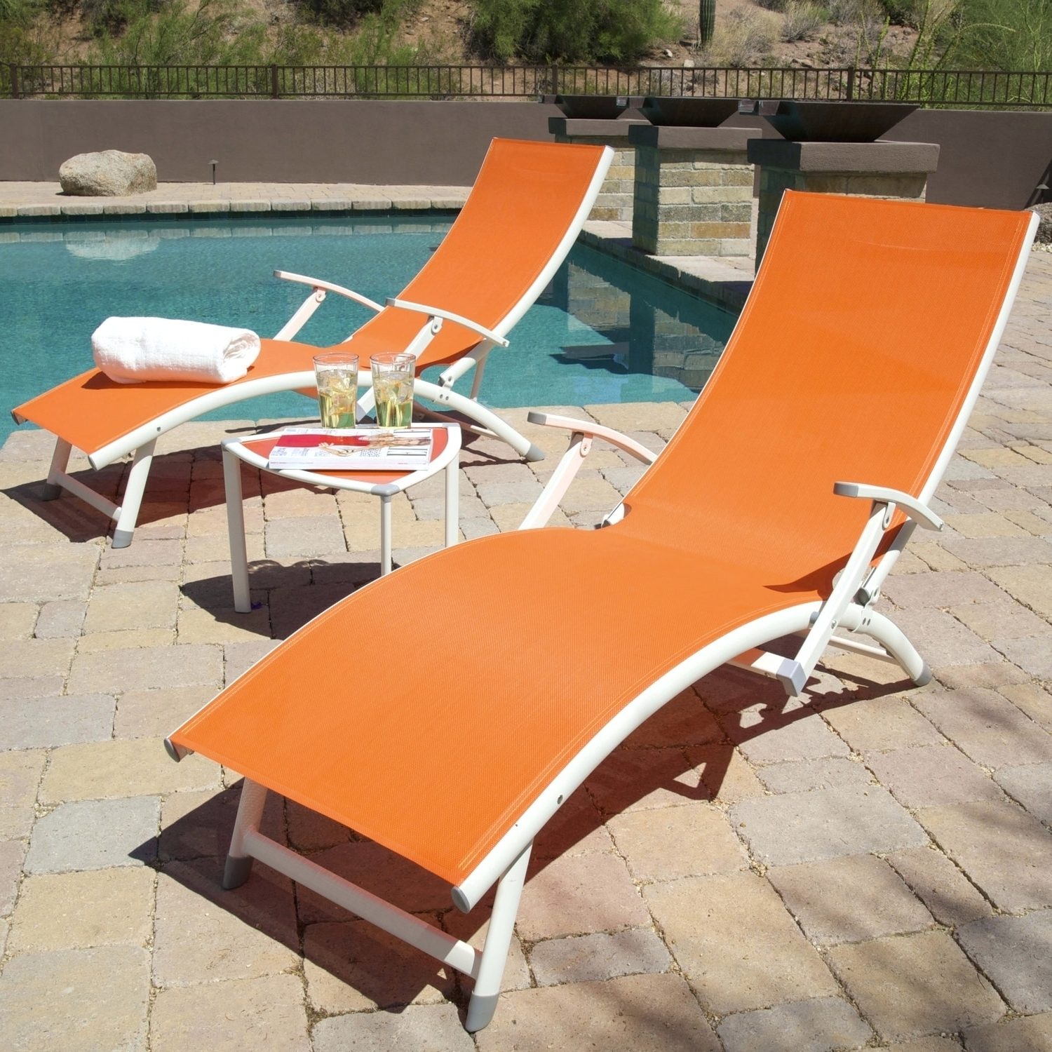 Well Known Image Of Modern Folding Chaise Lounge Chair Pvc Outdoor Chaise Within Pvc Outdoor Chaise Lounge Chairs (View 13 of 15)