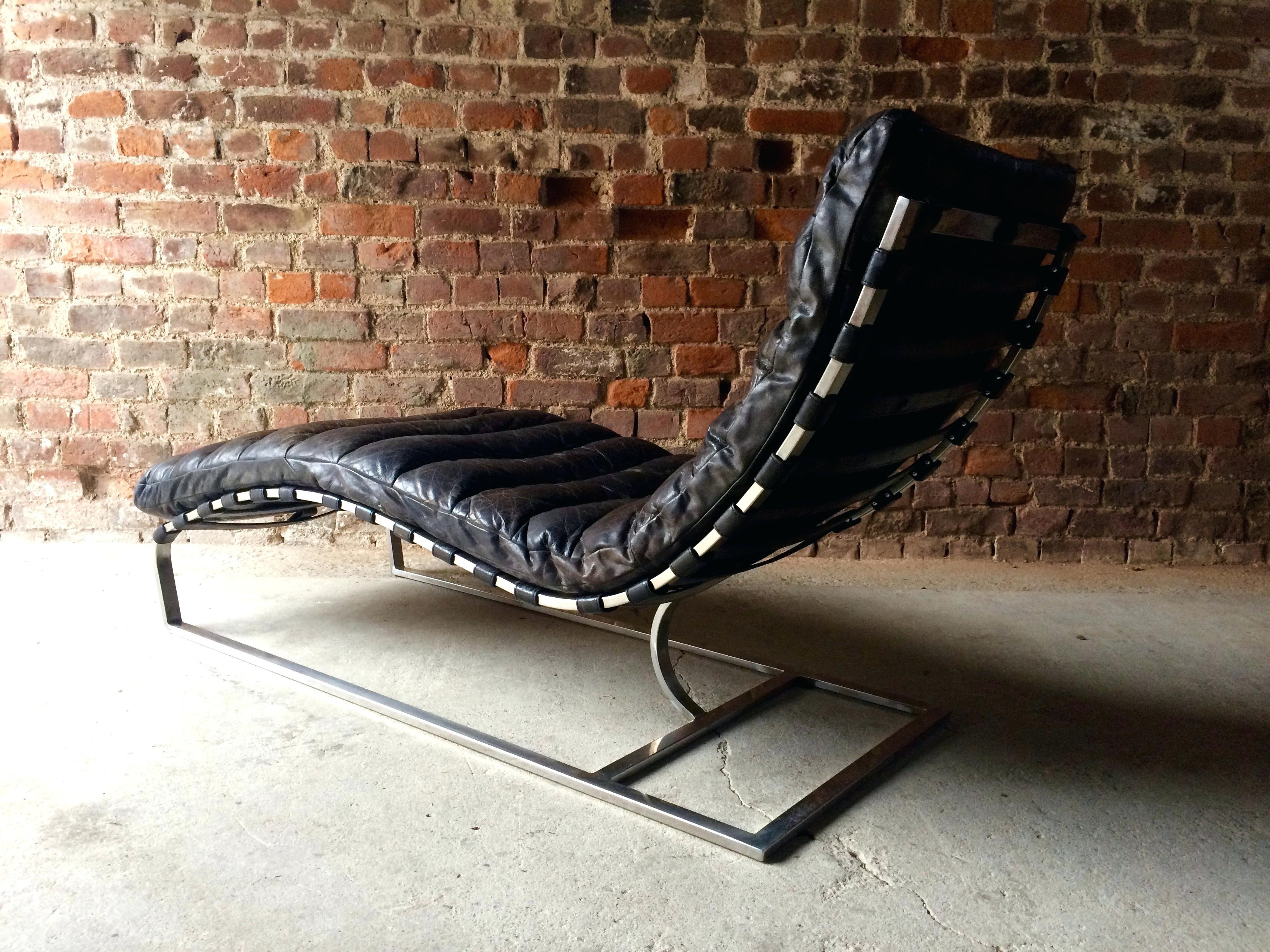 photos of black leather chaise lounge chairs showing 15 of 15 photos