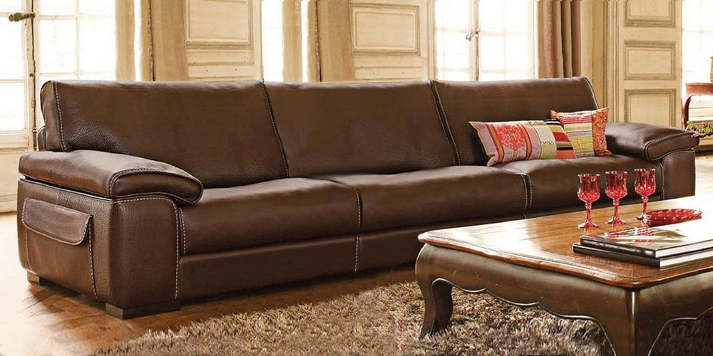 Well Known Italian Leather Sofa Homelandcalia Maddalena Inside Large 4 Seater Sofas (View 10 of 10)