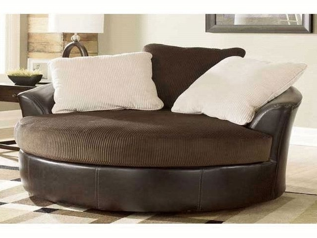 Well Known Large Sofa Chairs Inside Sofa : Luxury Round Swivel Sofa Chair Latest Large With Crescent (View 10 of 10)