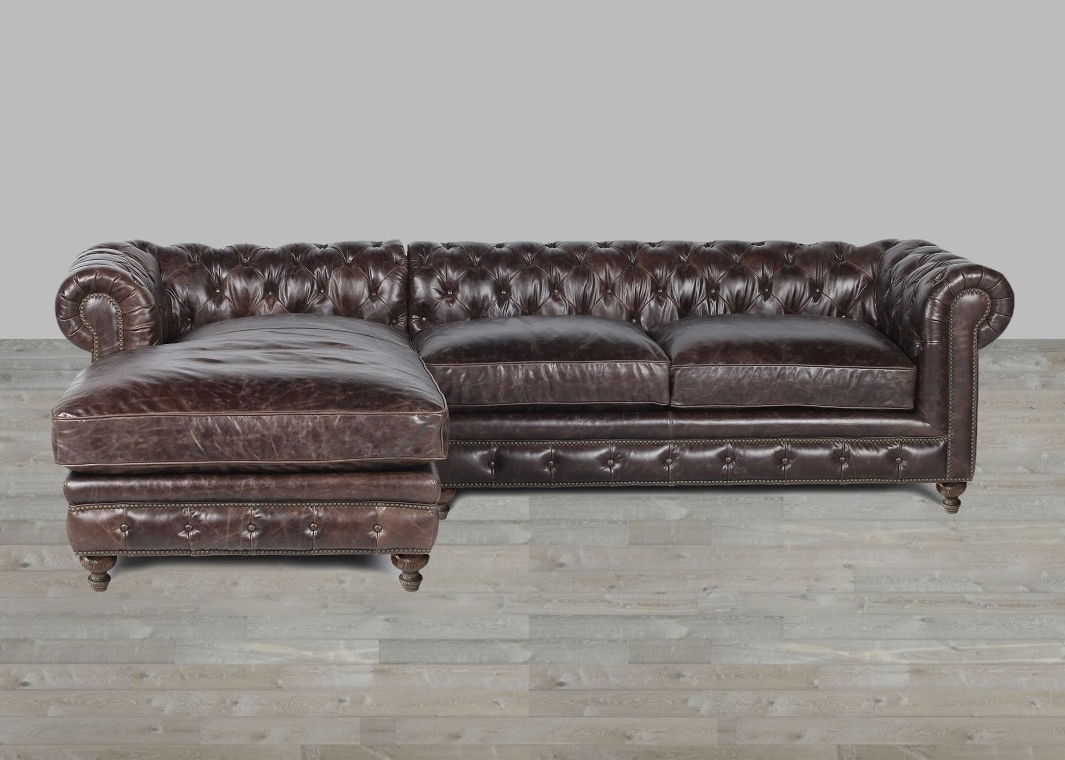 Well Known Leather Sofa Chaises In Leather Sofa With Chaise Rolled Arm (View 12 of 15)