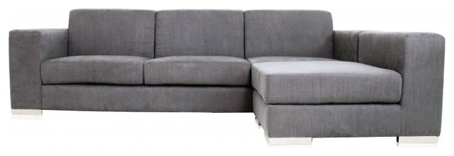 Well Known Long Island Sectional Sofa Grey Fabric Modern Sectional Sofas Gray For Long Modern Sofas (View 6 of 10)
