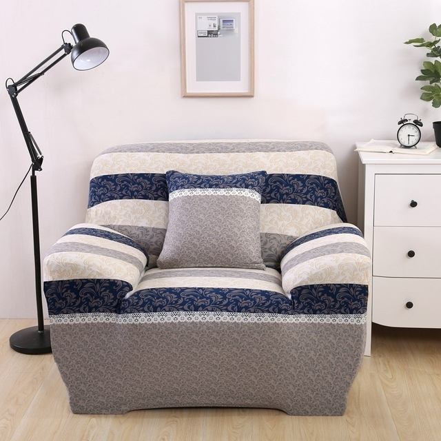 Well Known Luxury Reclining Sofa Covers Modern Design Washable Stripe Brief In Washable Sofas (View 8 of 10)