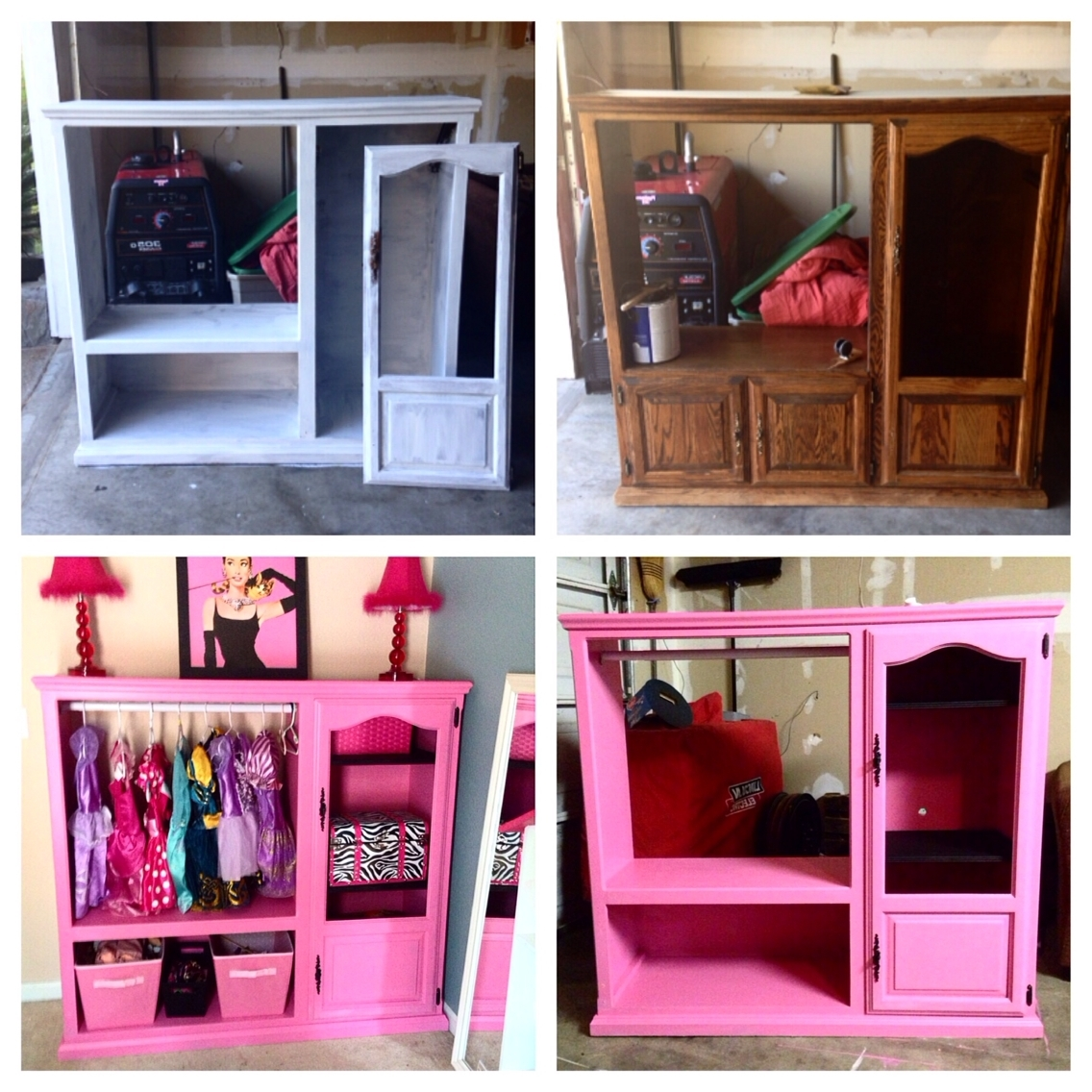 Well Known Old Entertainment Center Turned Into A Princess Wardrobe! (View 14 of 15)