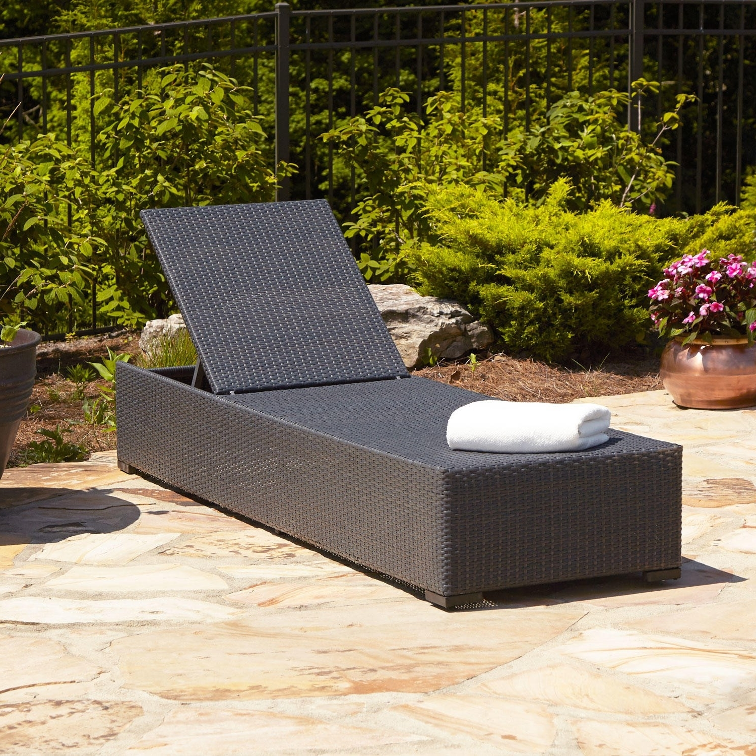 Well Known Patio Chaise Lounge As The Must Have Furniture In Your Pool Deck With Wicker Chaise Lounge Chairs For Outdoor (View 13 of 15)