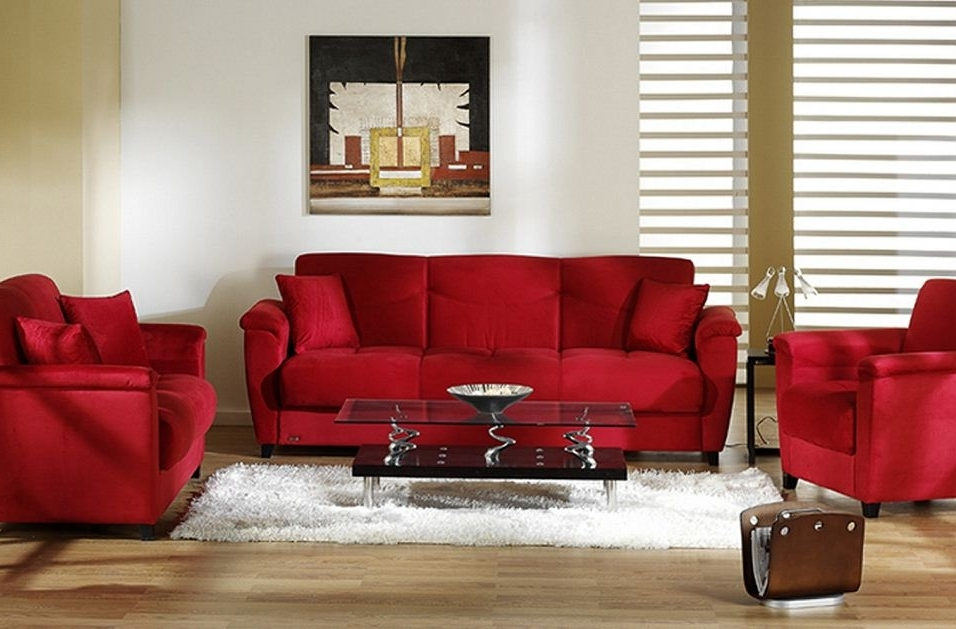 Well Known Red Sofa Chairs In Furniture (View 8 of 10)