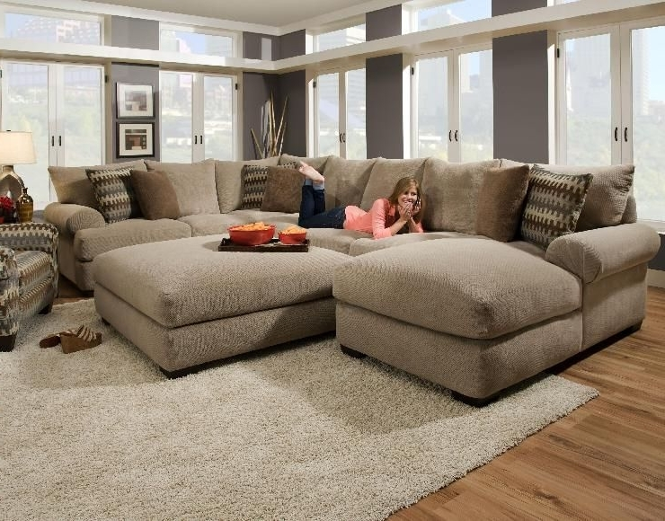 Well Known Sectional Couches With Large Ottoman Within Oversized Sectional (View 10 of 10)
