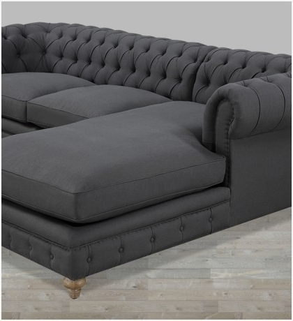 Well Known Sectional Sofas With Chaise Popularly » Hangar 18 Uav In Tufted Sectional Sofas With Chaise (View 10 of 10)