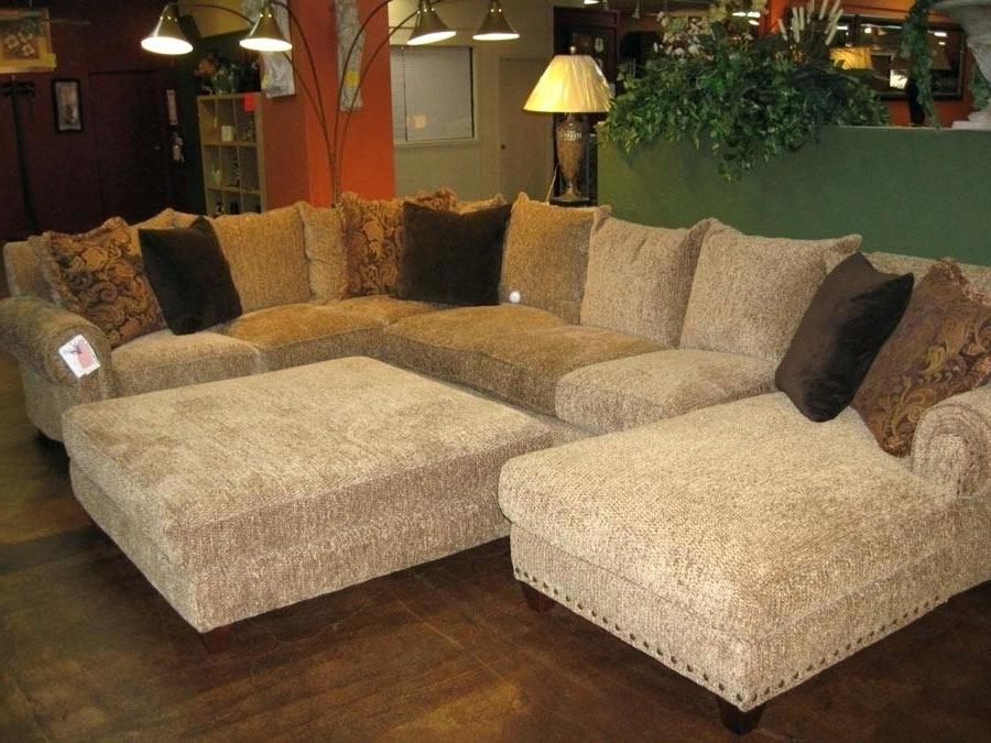 Well Known Sectional Sofas With Oversized Ottoman For Fantastic Oversized Loveseat With Ottoman Chic Microfiber Large (View 3 of 10)