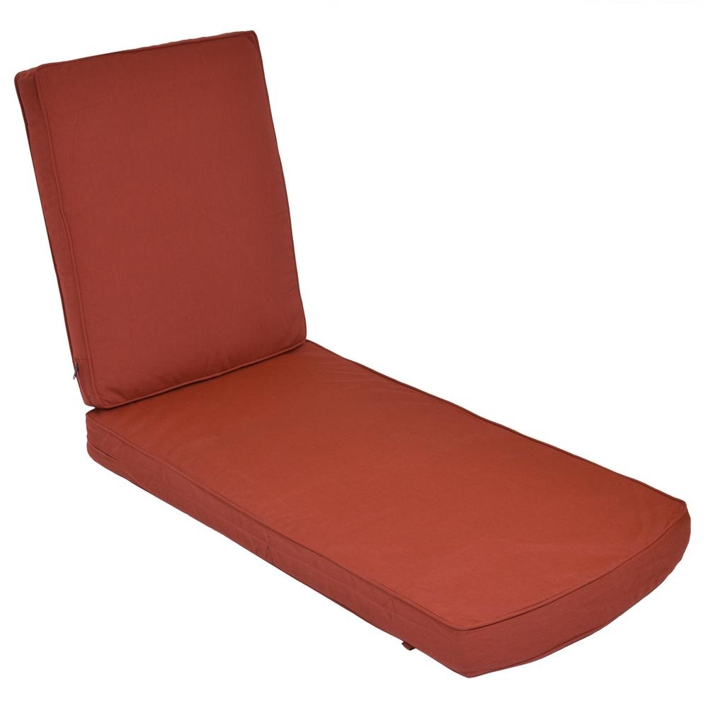 Well Known Sunbrella Canvas Henna Replacement 2 Piece Outdoor Chaise Lounge Within Chaise Lounge Cushions (View 14 of 15)