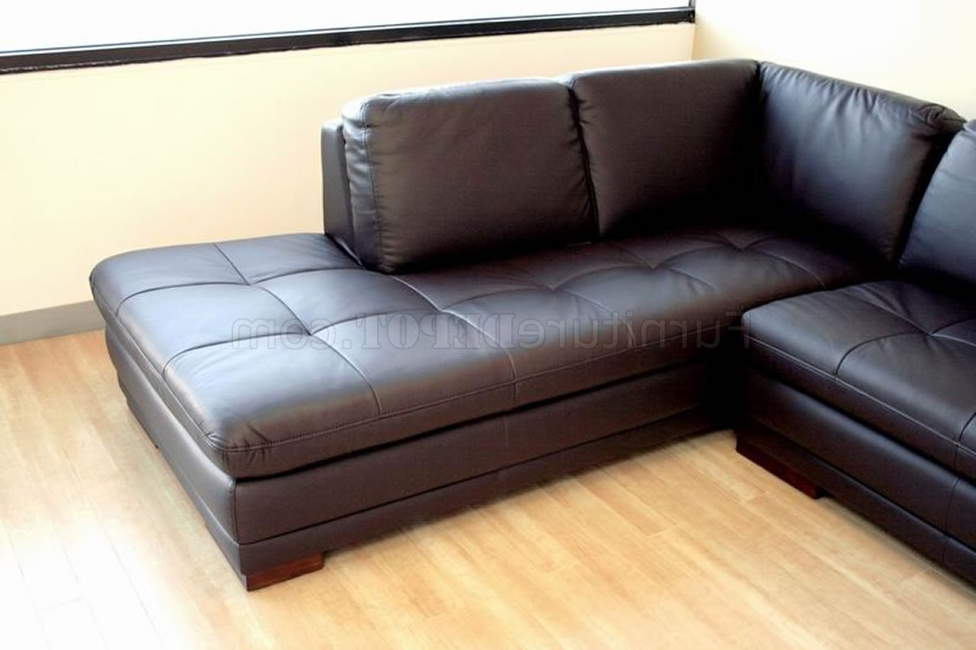 Well Known Tufted Sectionals With Chaise With Tufted Leather Right Facing Chaise Modern Sectional Sofa (View 6 of 15)