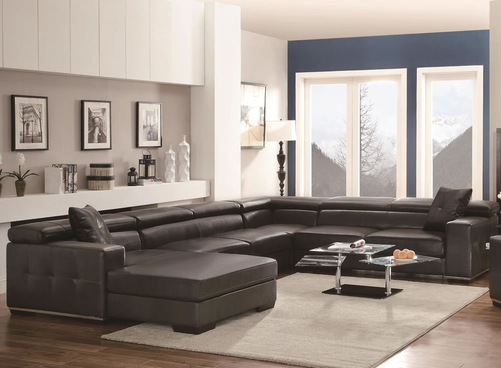 Well Known U Shaped Large Sectional Sofas Black Sofa Furniture Set — The Home Within Big U Shaped Sectionals (View 8 of 10)