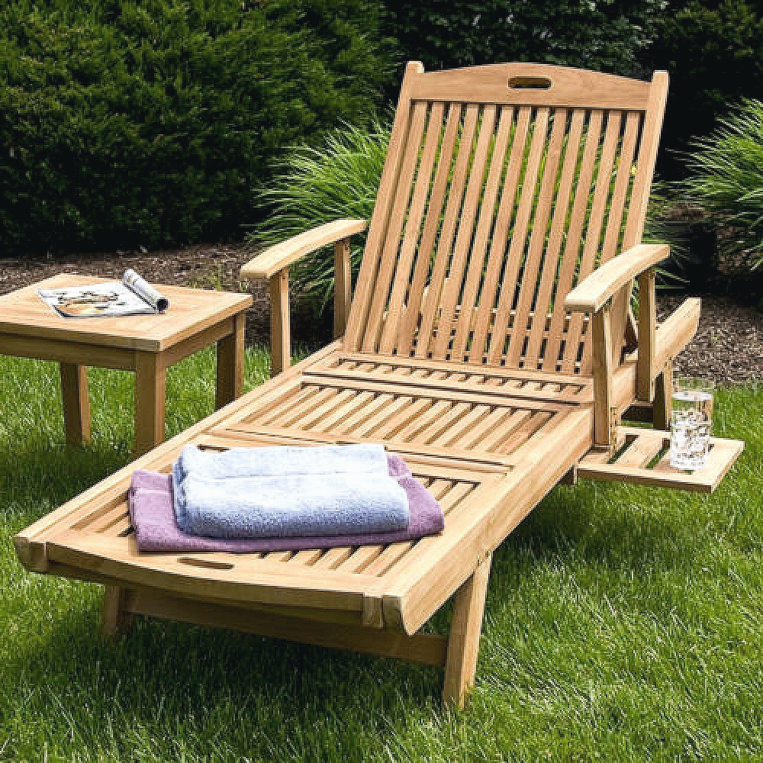 Featured Photo of Hardwood Chaise Lounge Chairs