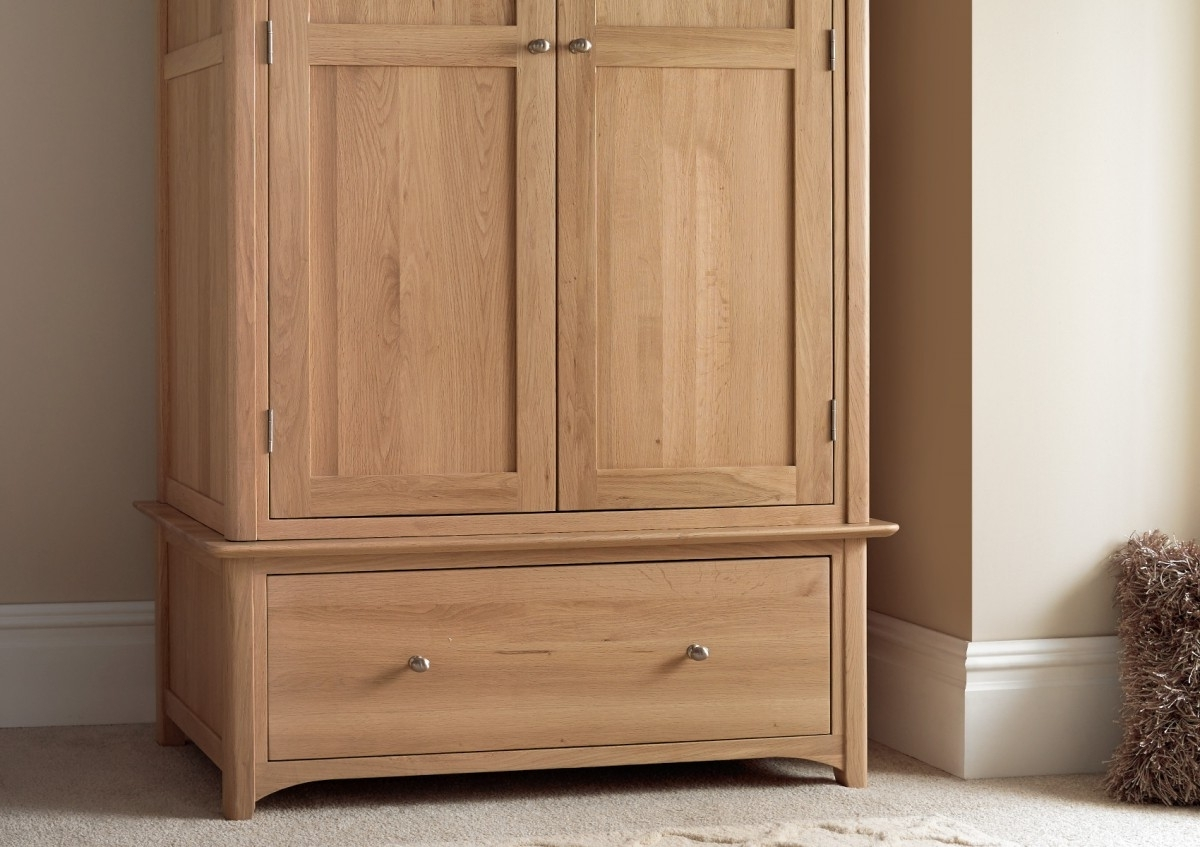 Well Known Vermont Oak 1 Drawer Wardrobe – Wardrobes – Furniture Pertaining To Oak Wardrobes (View 15 of 15)