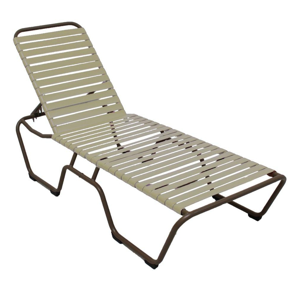 Well Known Vinyl Outdoor Chaise Lounge Chairs Intended For Marco Island Dark Cafe Brown Commercial Grade Aluminum Patio (View 4 of 15)