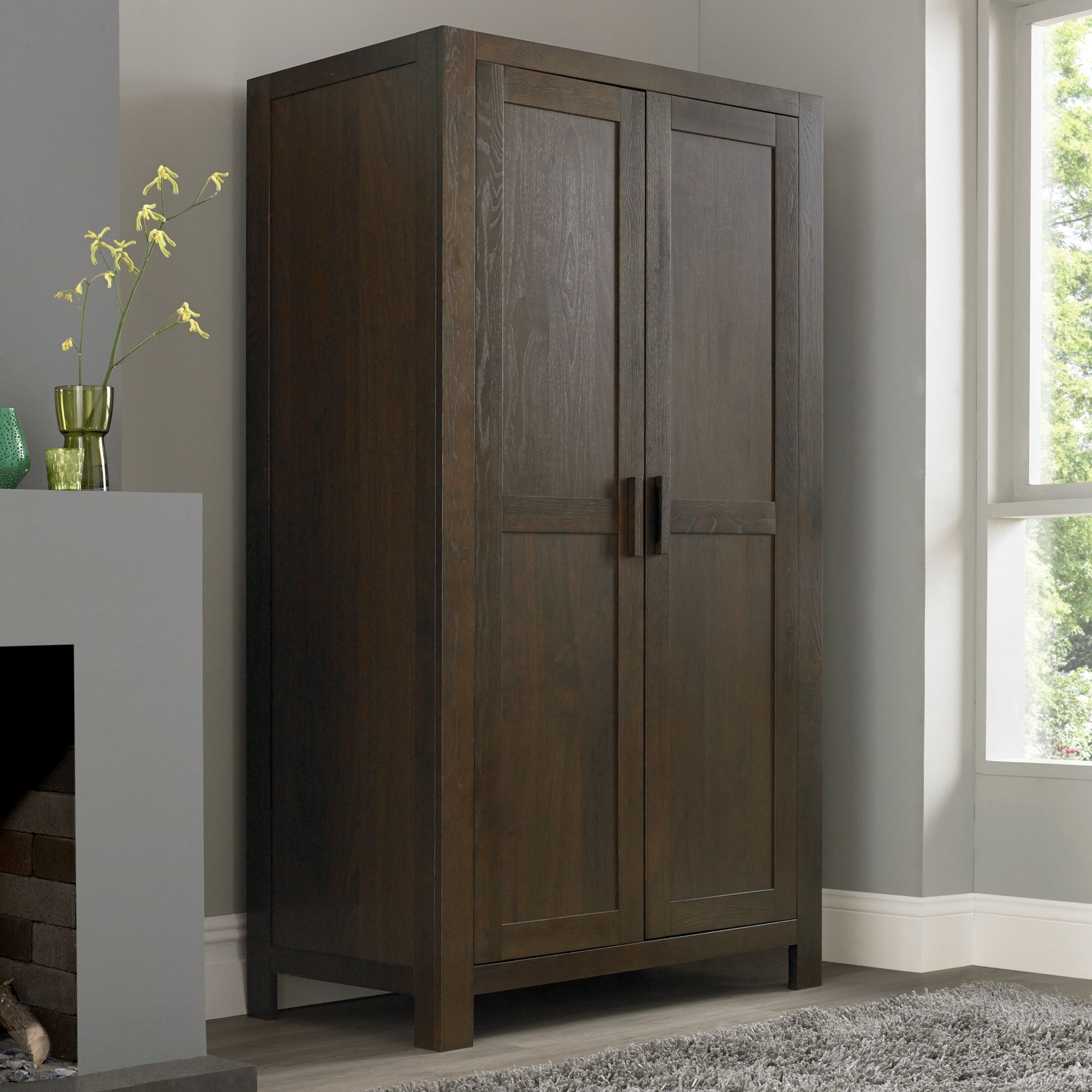 Well Known Walnut Wardrobes Within Lyon Large Double Wardrobe (View 15 of 15)