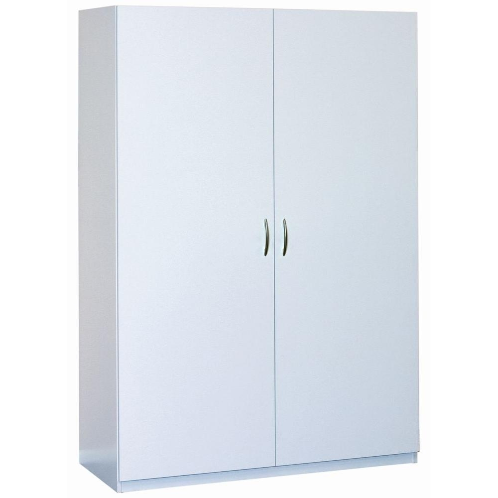 Well Known White Double Wardrobes Within Closetmaid 48 In (View 15 of 15)