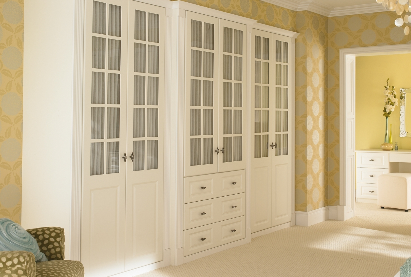 Well Known White Wooden Wardrobes Within Breathtaking Furniture Bedroom Traditional Space Fitted Bedroom (View 8 of 15)