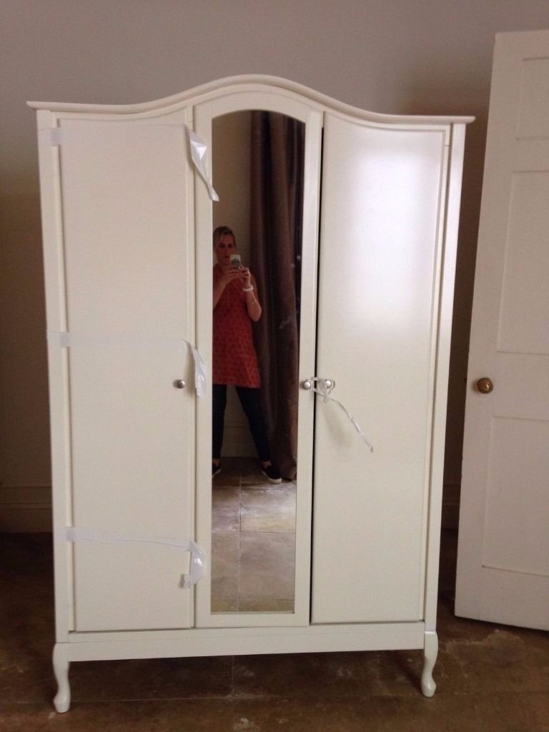 Well Liked 3 Door French Wardrobes Pertaining To 3 Door Mirrored 'french Armoire' Wardrobe – Vintage Style (Ivory (View 14 of 15)
