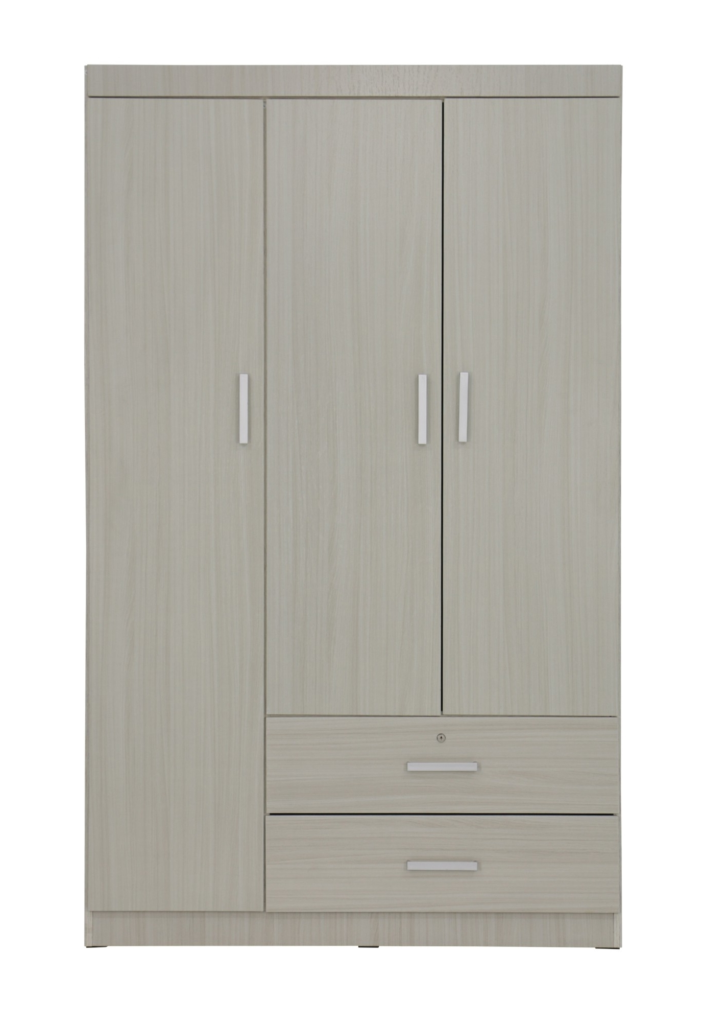 Well Liked 3 Door Wardrobes In Elifel 3 Door Wardrobe In White Wash (View 6 of 15)