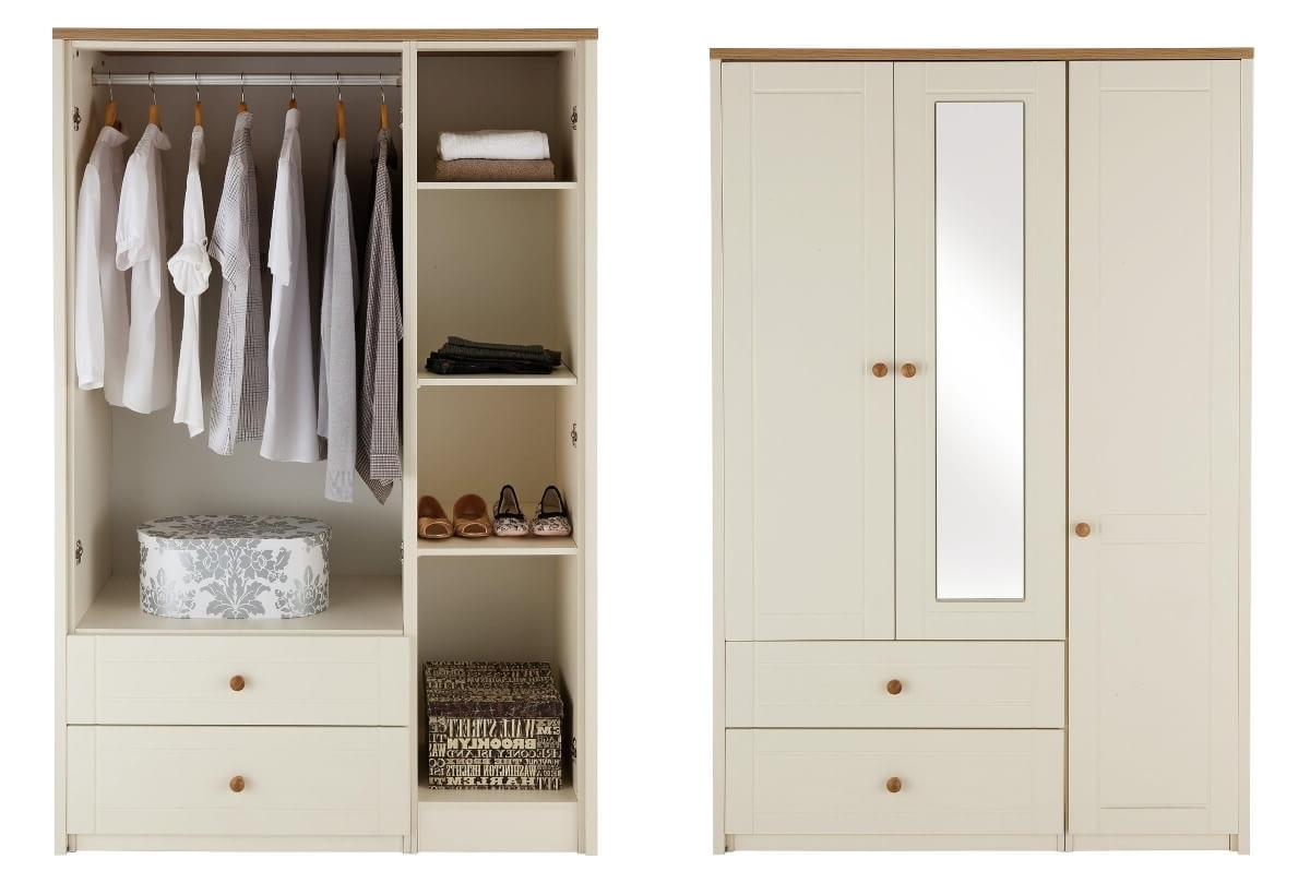 Well Liked Alderley Cream Ready Assembled And Partly Assembled Bedroom In Combi Wardrobes (View 13 of 15)