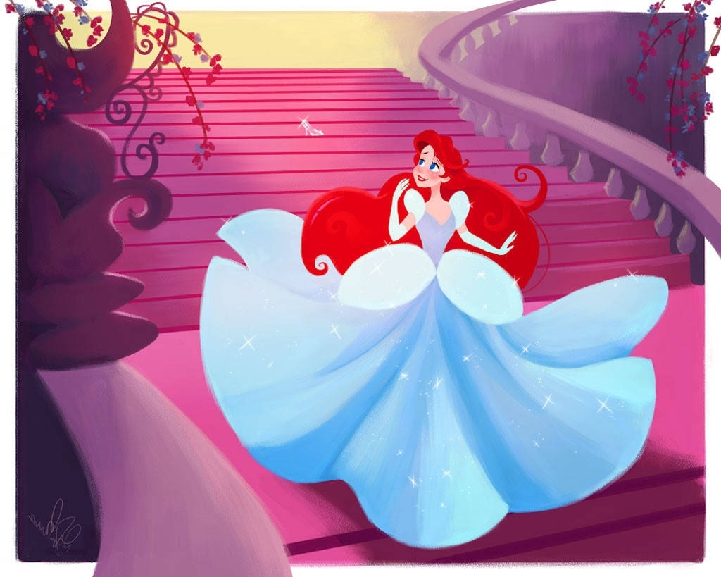 Well Liked Ariel As Cinderella From Disney Princesses Swap Wardrobes (& Lives Throughout Princess Wardrobes (View 15 of 15)