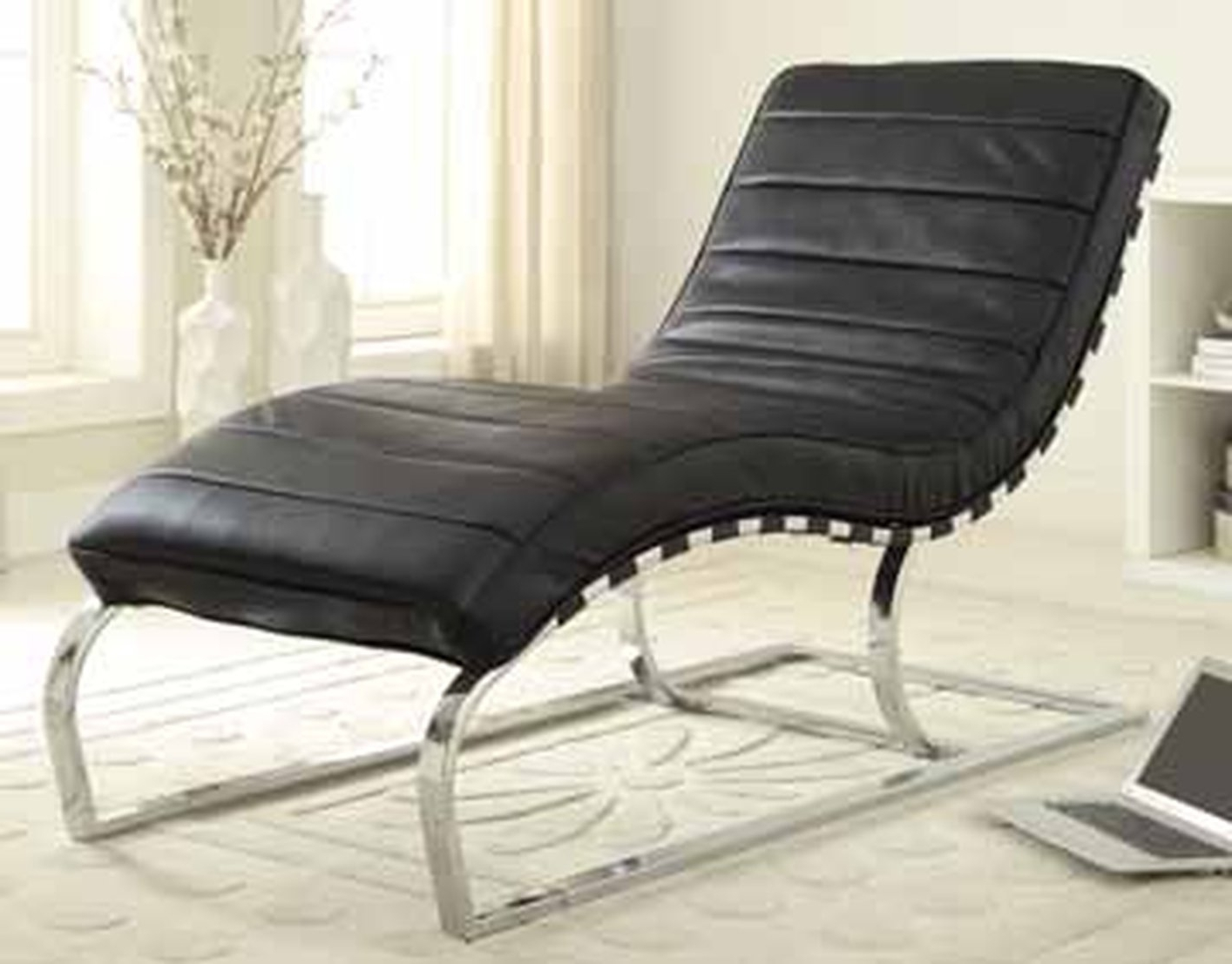 Well Liked Black Leather Chaise Lounge – Steal A Sofa Furniture Outlet Los For Black Leather Chaises (View 15 of 15)