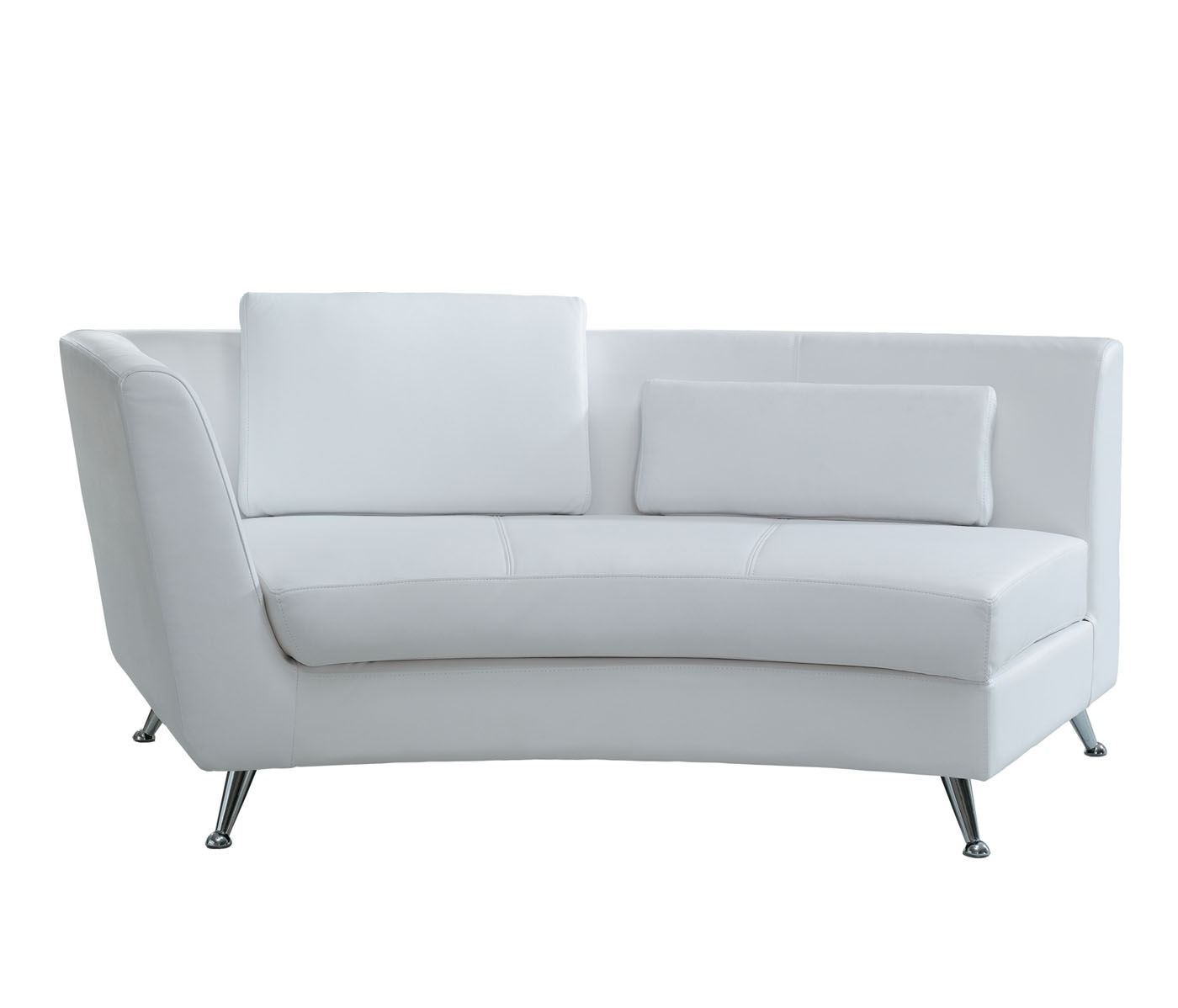 Well Liked Decoration In White Leather Chaise Lounge With White Leather In White Leather Chaise Lounges (View 11 of 15)