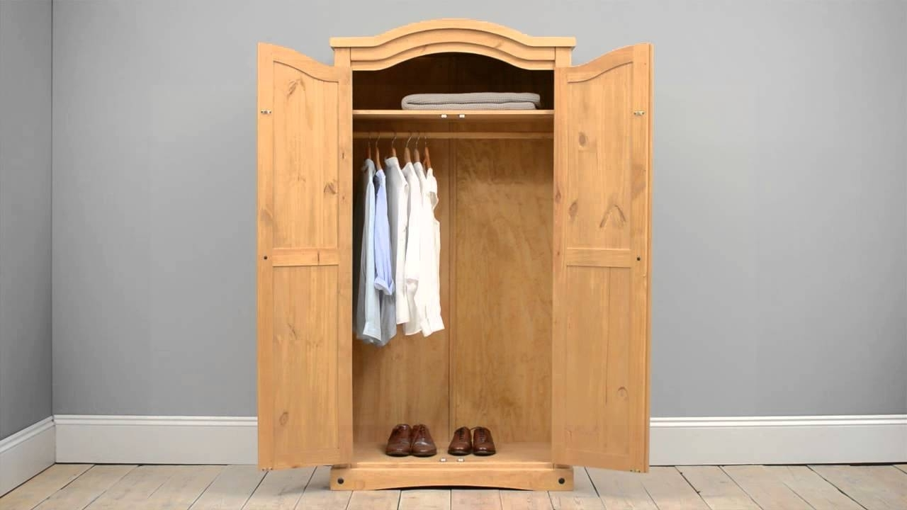 Well Liked Double Pine Wardrobes Within Corona Mexican Pine Arched Double Wardrobe – Pine Solutions – Youtube (View 14 of 15)