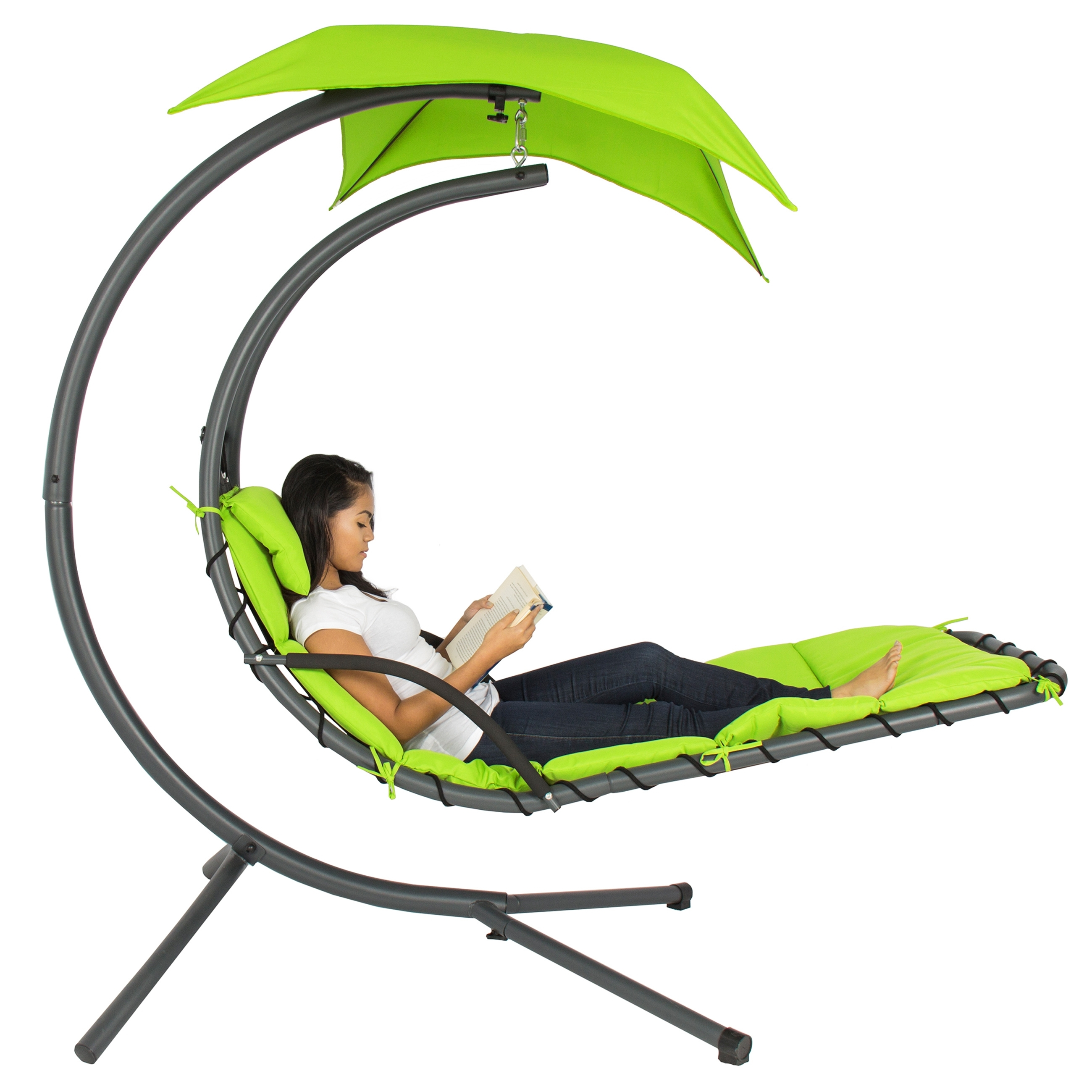 Well Liked Hanging Chaise Lounge Chairs For Best Choice Products Hanging Chaise Lounger Chair Arc Stand Air (View 15 of 15)