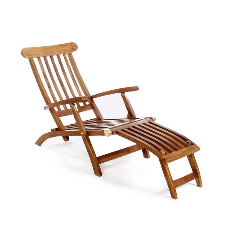 Well Liked Hardwood Chaise Lounge Chairs In Shop All Things Cedar Brown Folding Patio Chaise Lounge Chair At (View 9 of 15)