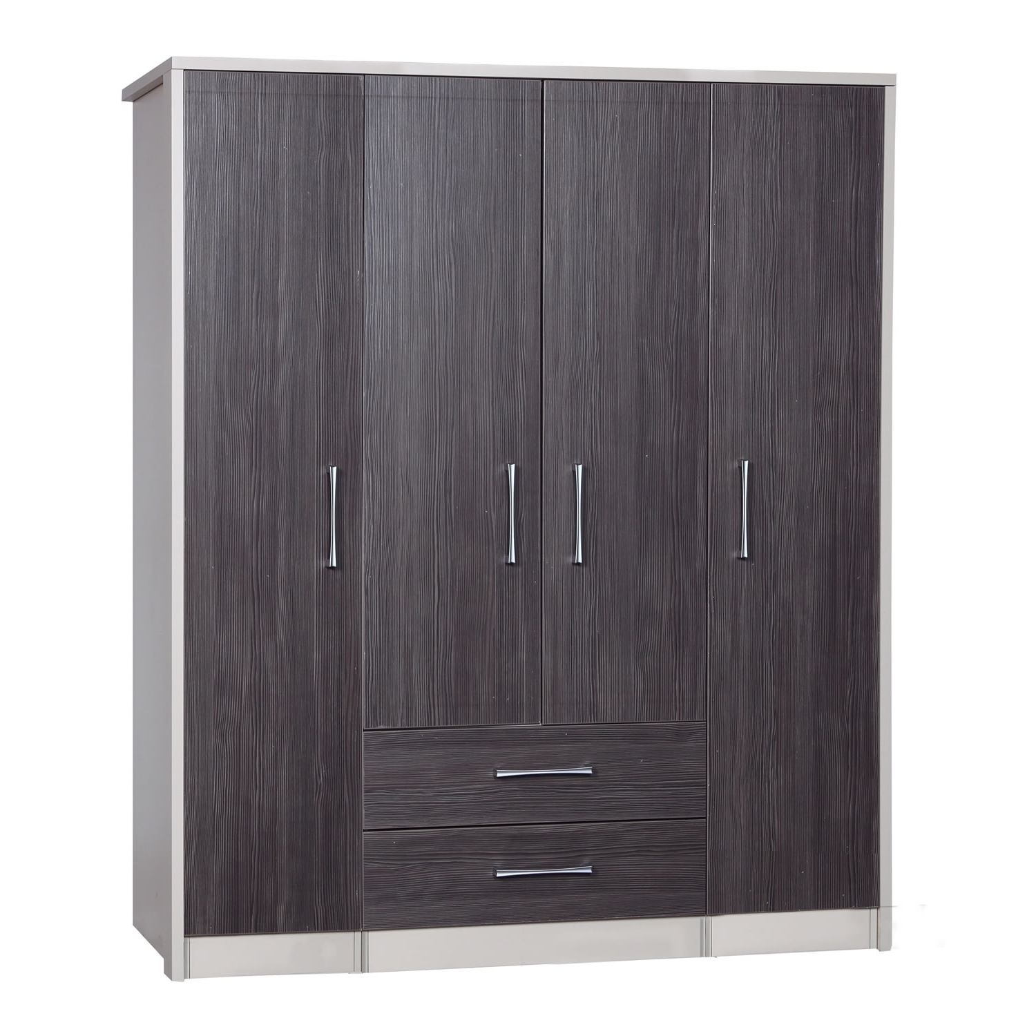 Well Liked Large Black Wardrobes In Avola Grey Large Combi Wardrobe – Next Day Delivery Avola Grey (View 14 of 15)