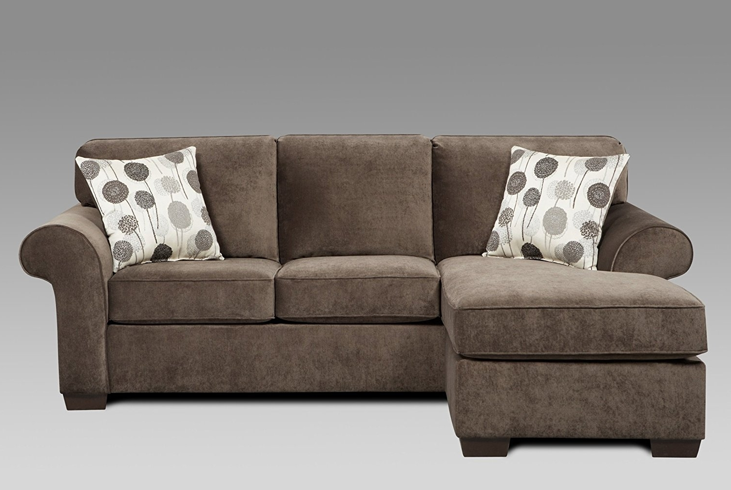 Well Liked Loveseats With Chaise With Amazon: Roundhill Furniture Fabric Sectional Sofa And Loveseat (View 15 of 15)